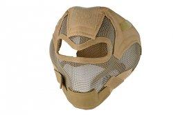 Pełna maska stalowa V7 - TAN