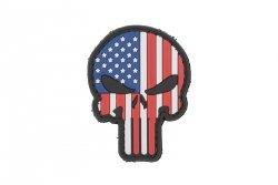 Naszywka 3D - Punisher US Flag