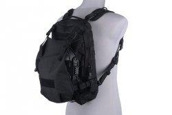 Plecak z miejscem na hełm  - czarny