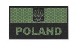 Combat-ID - Naszywka Polska - Duża - OD - Gen I - A1