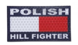 Combat-ID - Naszywka Polish Hill Fighter - Kolor - Gen I