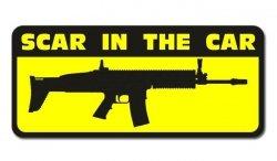 Combat-ID - Naklejka - SCAR In The Car - Na szybę