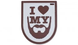 101 Inc. - Naszywka 3D - I Love My Beard - Piaskowy