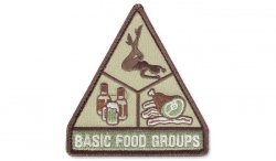 MIL-SPEC MONKEY - Morale Patch - Basic Food Groups - Multicam