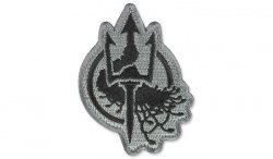 MIL-SPEC MONKEY - Morale Patch - Costa Ludus Trident EMB - UCP-Dark