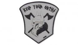 101 Inc. - Naszywka 3D - Keep Your Oaths - Szary