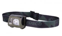 FOSCO - Latarka czoowa Tactical Headlamp 140lm - Zielony OD
