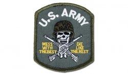 FOSTEX - Naszywka - US Army Skull - Zielony