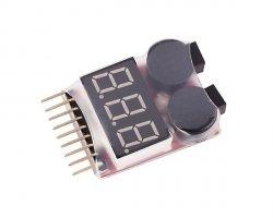 Alarm/miernik zabezpieczający akumulatory LiPo [8FIELDS]
