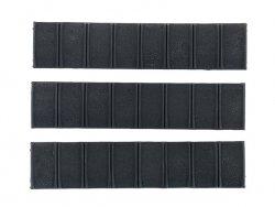 Zestaw niskoprofilowych paneli ochronnych mod.1 na szynę Picatinny - Black [Element]
