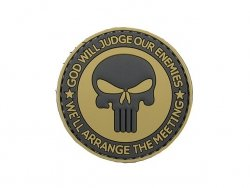 Naszywka GOD WILL JUDGE PVC 1 [8FIELDS]