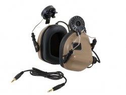 M31H Aktywne ochronniki słuchu na hełm - TN [EARMOR]