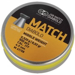 JSB - Śrut Yellow Match Middle Weight 4,52mm 500szt.