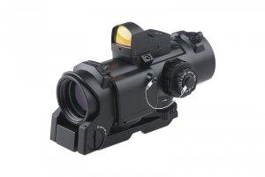 Theta - Replika luneta 4x32E z kolimatorem micro - czarna
