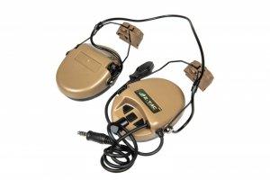 Zestaw słuchawkowy Z156 zSordin z adapterem do hełmów typu FAST - DE