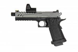 Replika pistoletu Hi-capa 5.1 Split Slide - szara / czarna (z celownikiem BDS)