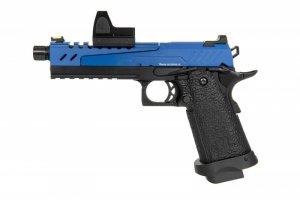 Replika pistoletu Hi-capa 5.1 Split Slide - niebieska / czarna (z celownikiem BDS)