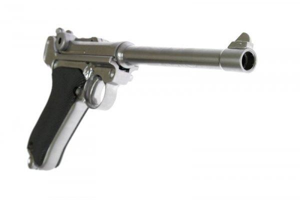 WE - Replika P08 M Parabellum - Silver