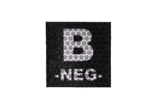 Naszywka IR z grupą krwi: B NEG