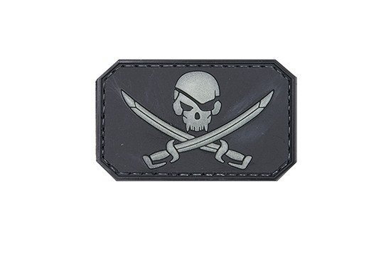 Naszywka 3D - Pirate skull