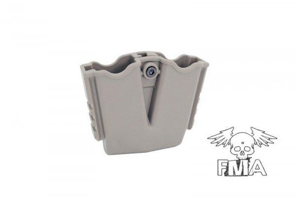 Podwójna ładownica polimerowa na magazynki do pistoletów typu XDM - TAN