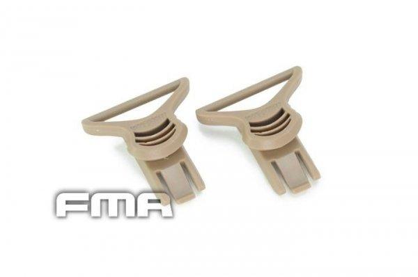 FMA - Klipsy do montażu gogli 36mm - dark earth