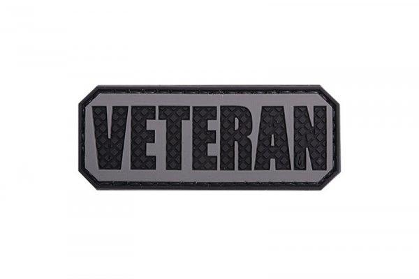 Naszywka 3D - Veteran - czarna