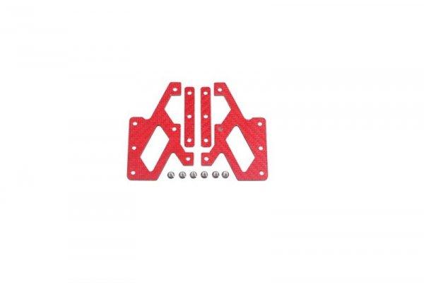 Elementy montażowe z włókna węglowego do kolimatorów C-More - czerwony