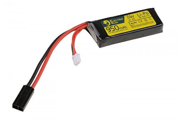 ElectroRiver - Akumulator LiPo 7,4V 950mAh 25C