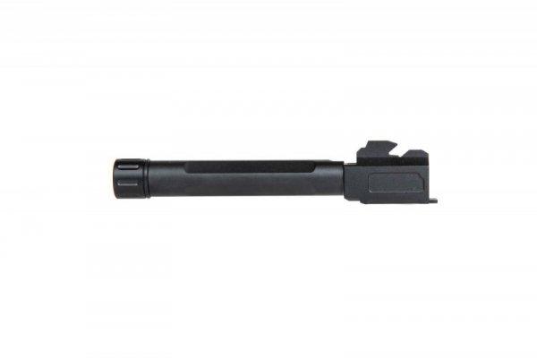 Lufa zewnętrzna z gwintem do replik pistoletu G17 - czarna