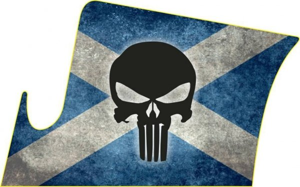 Naklejka - STICKERS MILITARY - Punisher Scotland