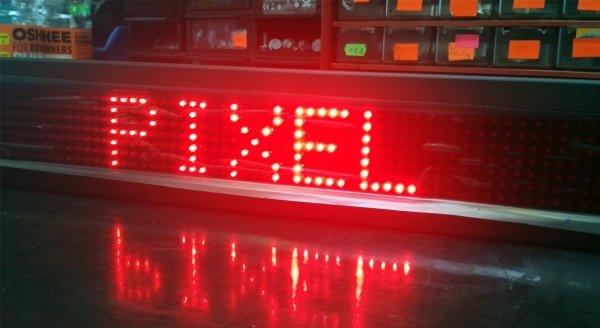 Wyświetlacz diodowy 7X80 czerwony - Produkt kolekcjonerski