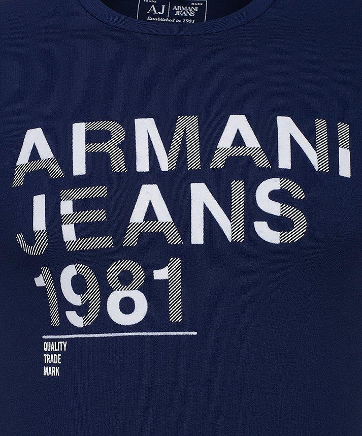 T-SHIRT MĘSKI ARMANI JEANS GRANATOWY