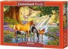 Puzzle 1000 Castorland C-103737 Konie nad Potokiem