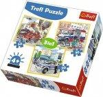 Puzzle 3w1 Trefl T-34836 Pojazdy Interwencyjne i Zawody