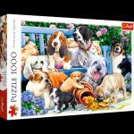 Puzzle 1000 Trefl 10556 Psy w Ogrodzie