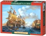 Puzzle 2000 Castorland C-200245 Copy of - Battle of Porto Bello - 1739