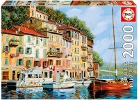 Puzzle 2000 Educa 16776 La Barca Rossa - Guido Borelli