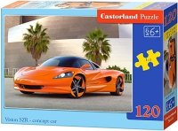 Puzzle 120 Castorland B-13159 Czerwony Samochód