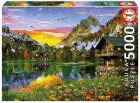 Puzzle 5000 Educa 17678 Jezioro w Alpach