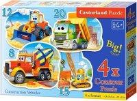 Puzzle 8,12,15,20 Castorland B-043040 Pojazdy Budowlane