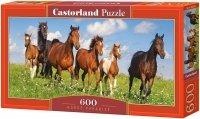 Puzzle 600 Castorland B-060351 Konie na Łące