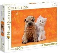 Puzzle 1500 Clementoni 31634 Pies i Kot