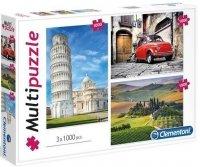 Puzzle 3x1000 Clementoni 08011 Multi Puzzle - Włochy