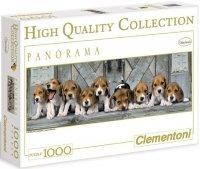 Puzzle 1000 Clementoni 39076 Psy - Beagle - Panorama