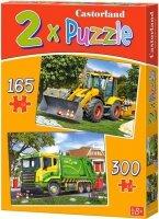 Puzzle 165, 300 - Castorland - B-021130 Pojazdy Robocze2w1