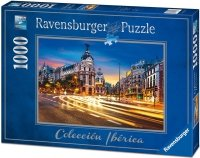 Puzzle 1000 Ravensburger 196180 Gran Via - Madryt