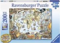 Puzzle 200 Ravensburger 128020 Piracka Mapa