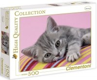 Puzzle 500 Clementoni 30362 Szary Kotek