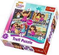 Puzzle 4w1 Trefl T-34265 Dora i Przyjaciele
